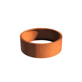 Cortenstaal borderbak (geen bodem) 120x40 cm