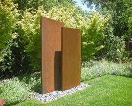Cortenstaal tuinwand/muur 'Sotto'  100x15x135 cm