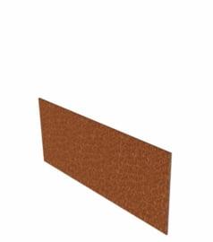 Cortenstaal Borderrand recht 10 strips a 2300x2x100 mm (23 m lengte)