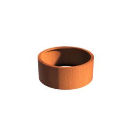 Cortenstaal borderbak (geen bodem) 100x40 cm