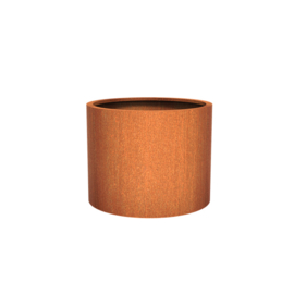 Cortenstaal plantenbak rond - cilindervorm Ø100xH80 cm