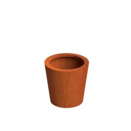 Cortenstaal plantenbak rond - taps Ø60xH60 cm
