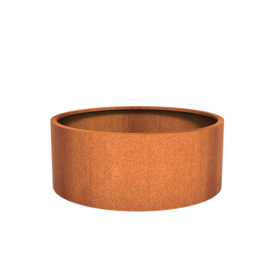 Cortenstaal plantenbak rond - cilindervorm Ø150xH60 cm