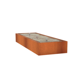 Watertafel 'Lucca' 300x100x40 cm incl. ledverlichting & pomp