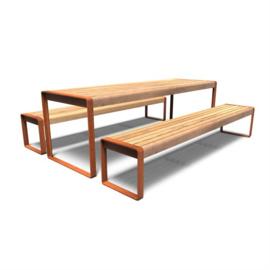 Cortenstaal picknickset 'Diego' 2400x2070x750