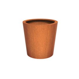 Cortenstaal plantenbak rond - taps Ø100xH100 cm
