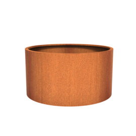 Cortenstaal plantenbak rond - cilindervorm Ø150xH80 cm