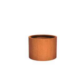 Cortenstaal plantenbak rond - cilindervorm Ø80xH60 cm