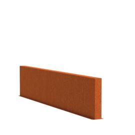 Cortenstaal tuinwand/muur 'Sotto'  400x15x80 cm