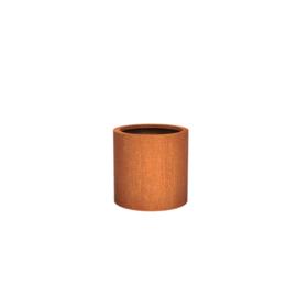 Cortenstaal plantenbak rond - cilindervorm Ø60xH60 cm