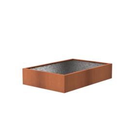 Cortenstaal vijver 300x200x60 cm