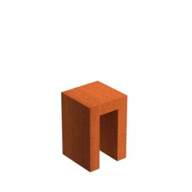 Cortenstaal U-sokkel 40x40x60 cm