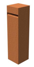 Cortenstaal brievenbus 'Copa' 30x30x120 cm