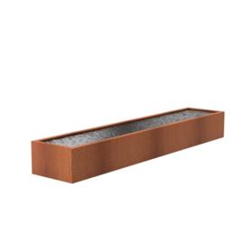 Cortenstaal vijver 500x100x60 cm