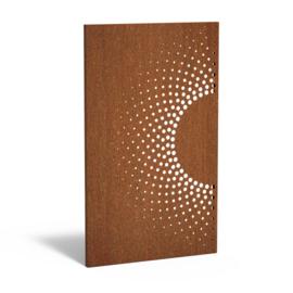 5 stuks Cortenstaal sfeerpaneel 'Half Circle' 1100x50x1800