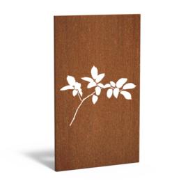 Cortenstaal sfeerpaneel 'Lilac' 1100x50x1800