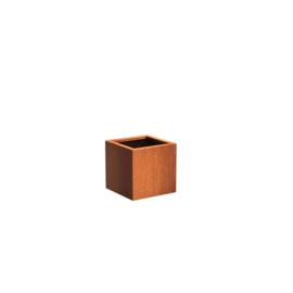 Cortenstaal plantenbak kubus L50xB50xH50 cm