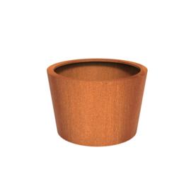 Cortenstaal plantenbak rond - taps Ø120xH80 cm