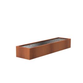 Cortenstaal vijver 400x100x60 cm