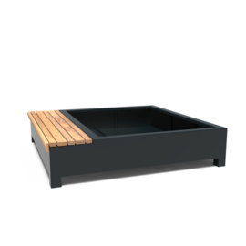 Aluminium plantenbank 'Acorus' 2037x2000x450 mm