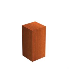 Cortenstaal sokkel 50x50x80 cm