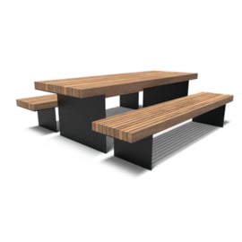 Gecoate picknickset 'Bodega' 2400x890x900 mm