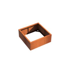 Cortenstaal borderbak (geen bodem) 100x100x40 cm