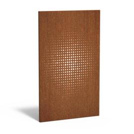Cortenstaal sfeerpaneel 'Maze' 1100x50x1800