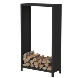 Zwart staal houtopslag  - L100xD40xH180 cm
