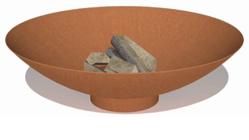 Cortenstaal vuurschaal 'Locarno' D120xH21 cm