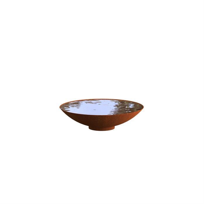 Cortenstaal waterschaal 'Elvio' Ø80xH21 cm