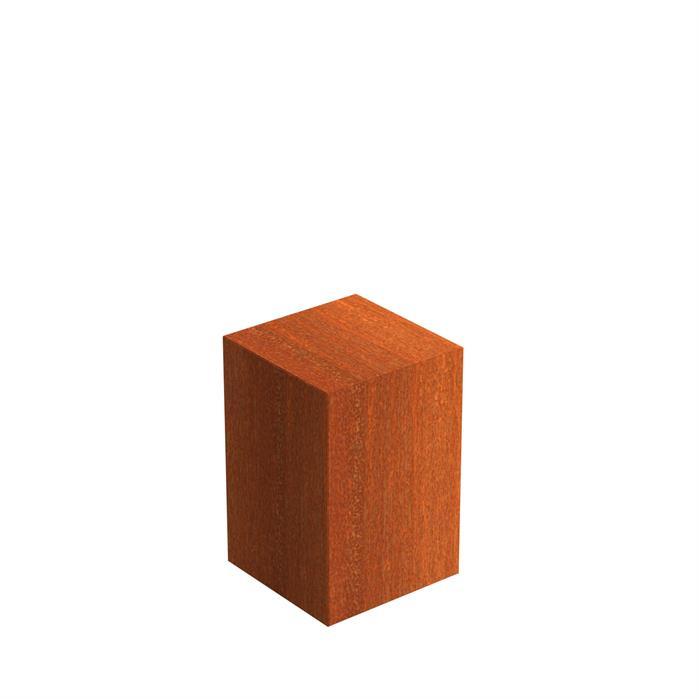 Cortenstaal sokkel 40x40x60 cm