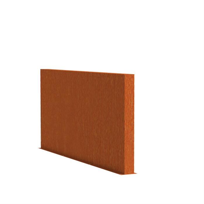 Cortenstaal tuinwand/muur 'Sotto'  300x15x135 cm