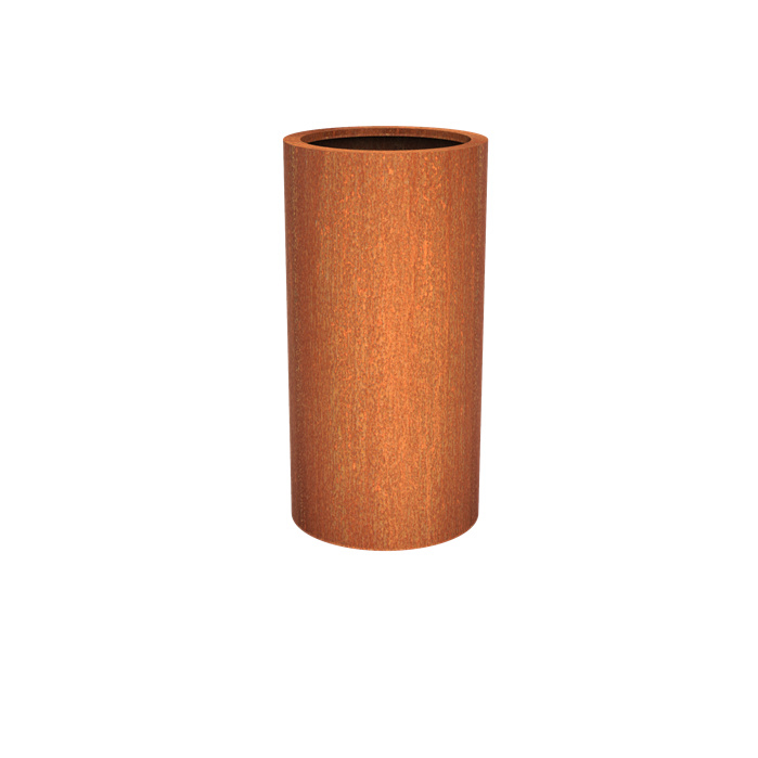 Cortenstaal plantenbak rond - cilindervorm Ø60xH120 cm