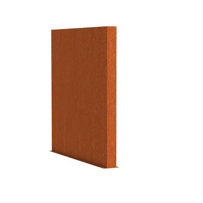 Cortenstaal tuinwand/muur 'Sotto'  200x15x135 cm