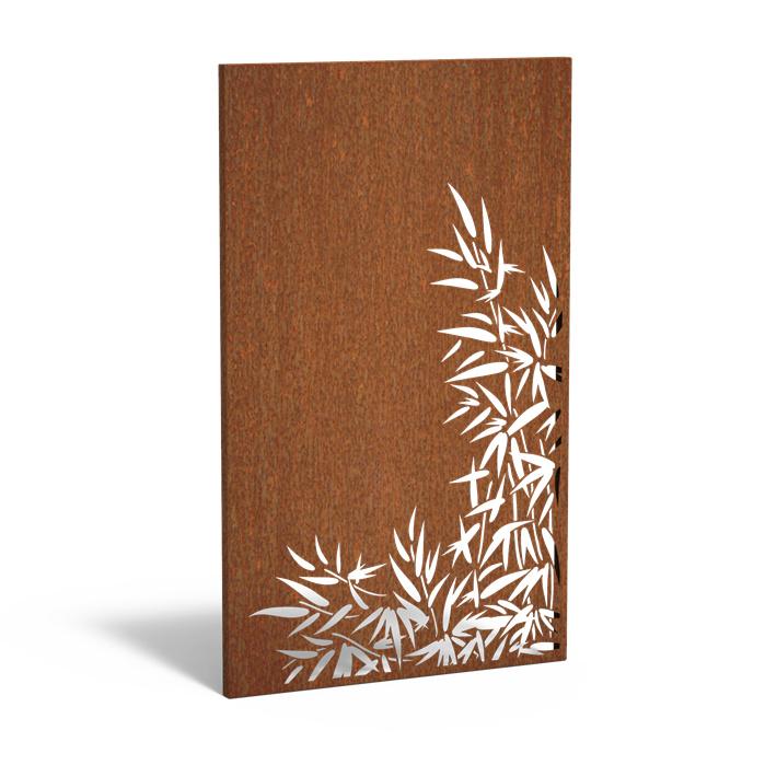 5 stuks Cortenstaal sfeerpaneel 'Bamboo II' 1100x50x1800