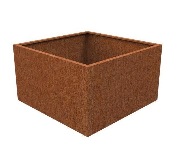 Cortenstaal plantenbak vierkant L100xB100xH60 cm
