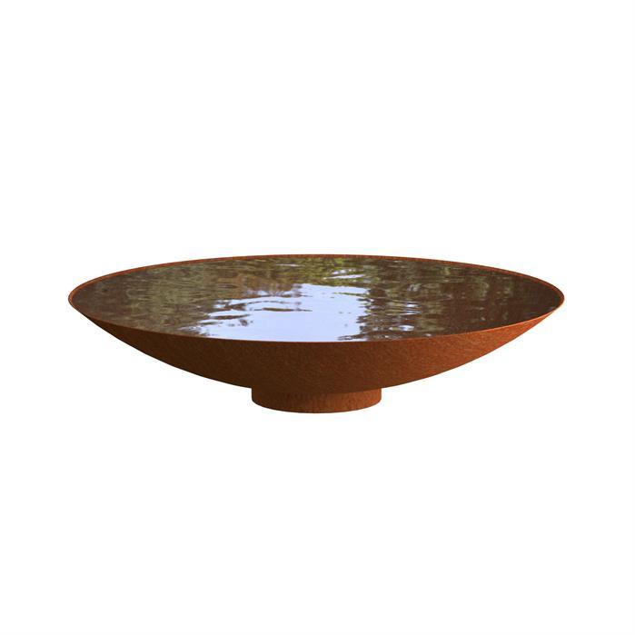 Cortenstaal waterschaal 'Elvio' Ø150xH21 cm