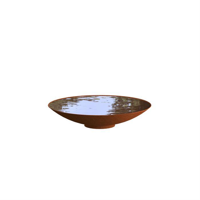Cortenstaal waterschaal 'Elvio' Ø100xH21 cm