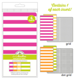 Summertime Stripes Daily Doodles Travel Planner Inserts