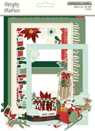 Jingle All The Way Chipboard Frames