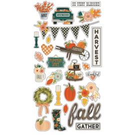 Fall Farmhouse 6x12 Chipboard