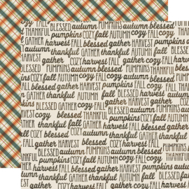 Fall Farmhouse Fall Memories Double Sided 12x12""