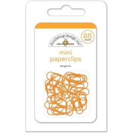 Mini Paperclips Tangerine