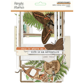 SV Great Escape Chipboard Layered Frames