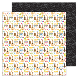 School Days Band Class double-sided cardstock