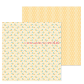 "Bee Happy 12x12"" Double Sided Cardstock"