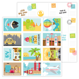 I ♥ Travel Wish You Were Here double-sided cardstock