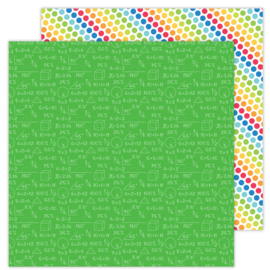 School Days Arithmetic double-sided cardstock