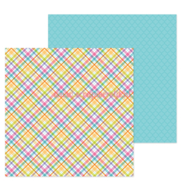 "Jellybean Plaid 12x12"" Double Sided Cardstock"